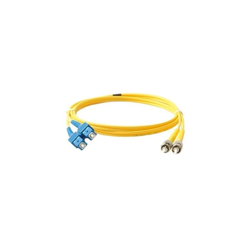 Jumper de Fibra óptica Monomodo ST-LC de 3 Metros Amarillo Cable de Fibra optica