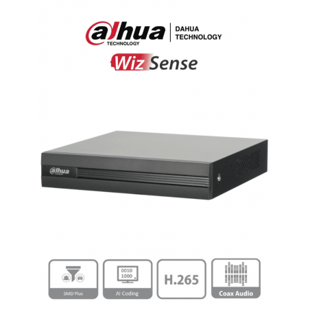 DVR de 4 canales Dahua de 5 Megapixel Lite + 2 IP hasta 6 Teras de almacenamiento. Grabador Dahua de 5 Megapixel