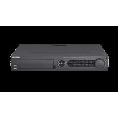 DVR 4 Megapixel / 16 Canales TURBOHD + 8 Canales IP / 4 Bahías de Disco Duro / 4 Canales de Audio / Videoanalisis