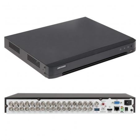 DVR 2 Megapixel (1080p) Lite / 32 Canales TURBOHD + 2 Canales IP / 2 Bahías de Disco Duro / 1 Canal de Audio / Vídeo Análisis
