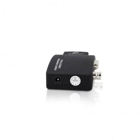 Cable Coaxial armado con conector BNC y longitud de 1.5m, Optimizado para HD ( TurboHD, HD-SDI, AHD )