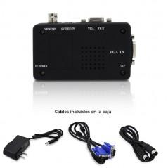 Convertidor de BNC a VGA Convertidor de Svideo a VGA Convertir de Camara a VGA