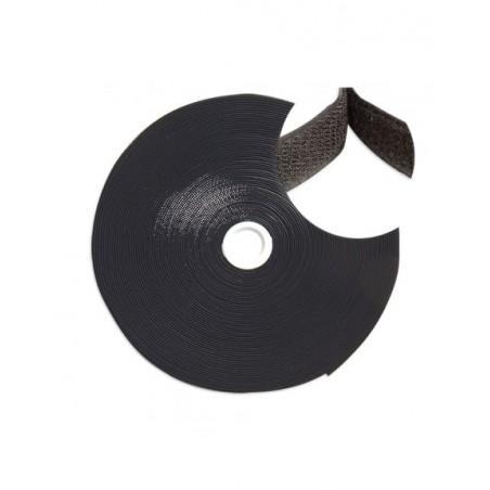 Rollo de Cinta de contacto Velcro de 10 metros Abrazadera tipo Velcro de Negro para Organizador de Cables