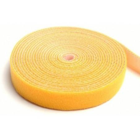 Rollo De Cinta De Contacto Velcro De 10 Metros Abrazadera Tipo Velcro De Amarillo Para Organizador De Cables