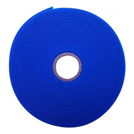 Rollo De Cinta De Contacto Velcro De 25 Metros Abrazadera Tipo Velcro De Azul Para Organizador De Cables