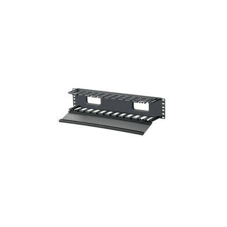 Organizador de Cables Horizontal PatchLink, Sencillo (Solo Frontal), Para Rack de 19in, 2UR