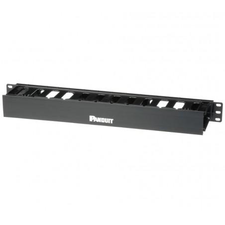 Organizador de Cables Horizontal PatchLink, Sencillo (Solo Frontal), Para Rack de 19in, 1UR