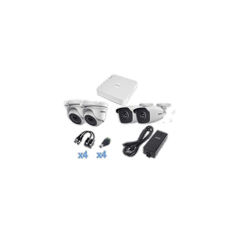 Bala TURBOHD 1080p / Lente 2.8 mm / 50 mts IR EXIR / Exterior IP66 / Ultra Baja Iluminación / METAL / 4 Tecnologías