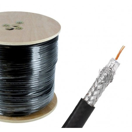 Cable Coaxial Rg-6 RG6 Bobina 305 Mts Negro Coaxial Rg6 Profesional para Tele TV tipo Sky, Izzi, Antena Aerea, Dish