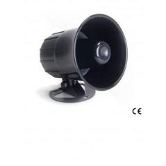 Sirena de 1 tonos 15 W/ Sonido 110 dB. Sirena Alambrica color negro Sirena para Alarma Sirena Bocina para Alarma