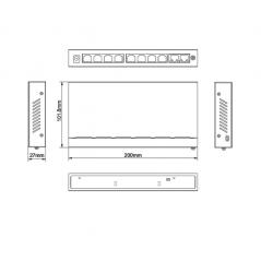 Bobina de cable blindado Doble Forro Exterior de red por rollo FTP Categoría 6 305 metros Cable utp blindado FTP Rojo