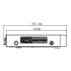 Bullet TURBO 1080p / Gran Angular 106° / Lente 2.8 mm / 20 mts Smart IR / Exterior IP66 / 4 Tecnologías (TVI / AHD / CVI / CVBS)