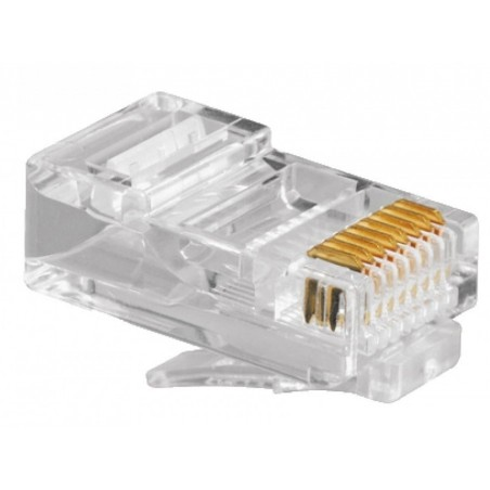 Canaleta Aluminio 35x12mm 2cable 2.5m Ca35 para cableado de redes, telefonía o electricidad. 2 cables de red cat 6