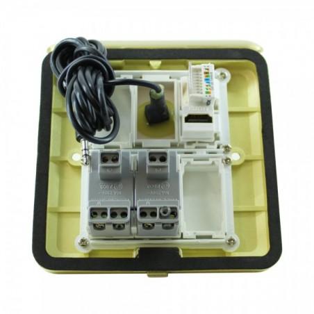 Panel de Piso Caja de conexiones para escritorio Piso Caja de conectores con 2AC/1HDMI/1RJ45/1AUDIO