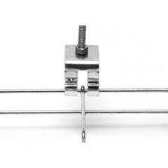 Grapa de suspensión para anchos de 50 mm, con acabado Electro Zinc Grapa de suspensión para Charola Charofil