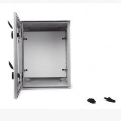 Gabinete de plástico IP65 Puerta Transparente, Uso en Exterior 300x400x200mm Incluye Chapa y Llave