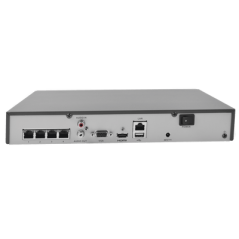 NVR 4 Megapixel / 8 canales IP / 1 Bahía de Disco Duro / 2 Antenas WIFI / Salida de Vídeo Full HD