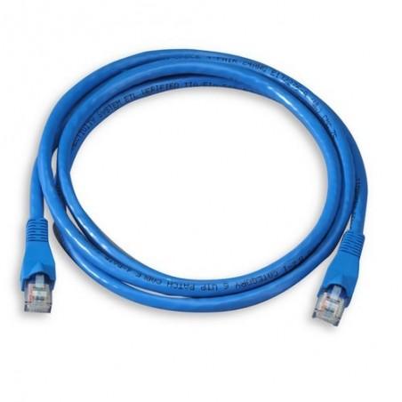 Cable de Parcheo UTP Cat6 0.50 m Azul Patch cord Cable de Red ponchado Cable Red Categoria 6 Cat6 Rj45 Utp Ethernet