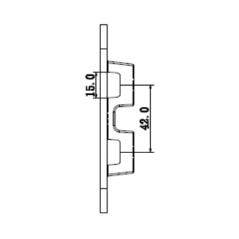 Barrera izquierda de acceso vehicular uso rudo / Brazo de 4M / LED / 6 Segundos