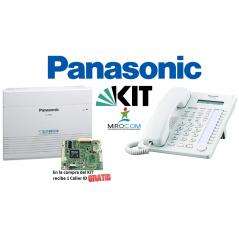 KIT Conmutador Panasonic + Telefono Programador Conmutador Telefonico 3 Lineas 8 Ext Puerto Audio Y Chapa Conmtuador Panasonic