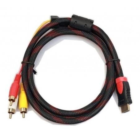 Convertidor Adaptador Hdmi A Rca Av Adaptador Convertidor De Video De Hdmi A Rca en Cable