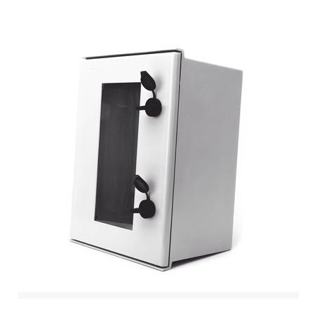 Gabinete de plastico IP65 Puerta Transparente, Uso en exterior 400x500x200mm Incluye Chapa y Llave