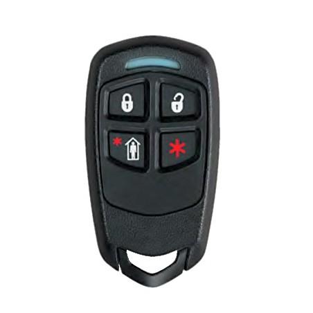 Control remoto tipo llavero de 4 botones con LED / Batería de Larga Duración 3-5 años
