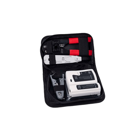 Kit de herramientas para instalación de redes Pinzas de Impacto 110 Pinzas para plug Conector RJ45 Probador de Cable