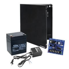 Kit con fuente ALTRONIX con salida de 12 Vcd a 2.5 Amper, incluye transformador y batería de 4.5 Amper
