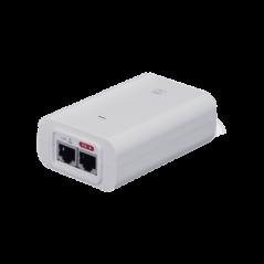 Adaptador PoE Ubiquiti 802.3af (48 VDC, 0.32 A) puerto Gigabit, ideal para equipos UniFi