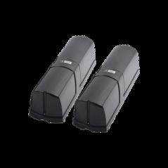 Detector de rayo fotoeléctrico / 4 rayos / 4 frecuencias / 250mts exterior / Alimentacion 12-24 vcd Foto celda para Exterior