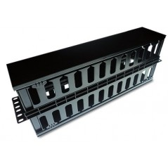 "Organizador de Cables Horizontal de 19"" Metálico, 2 Unidades Organizador de Cable plastico de 2ur 2 ur Organizador plastico"