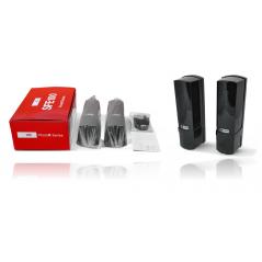 Detector de rayo fotoeléctrico / 3 rayos / 4 frecuencias / 100mts exterior / Alimentacion 12-24 vcd Foto Celda para Exterior