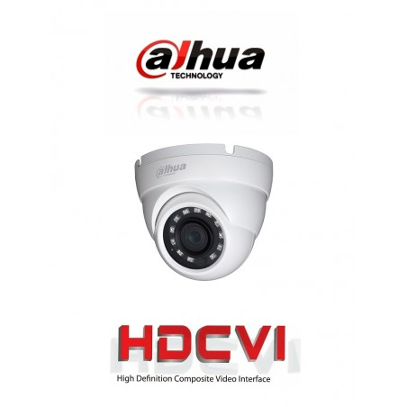 Camara Domo 1080p Metálica Lente de 2.8mm 101 Grados de Apertura Ir de 30 Metros IP67 Cámara Dahua tipo Domo