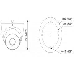Cámara domo HDCVI 720p 4 EN 1 Lente 2.8 mm ir 20 Mts IP67 Metálica Camara Domo Dahua
