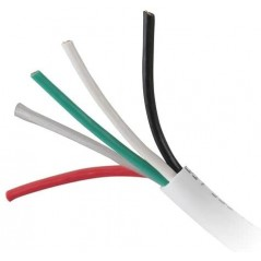 Bobina de 152 metros de cable, calibre 16, 2 pares, de color blanco Cable para Bocina 2x16 AWG Cable Calibre 16