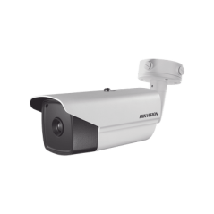 Bala IP Térmica 160 X 120 / Lente 3.1 mm / Termométrica / Detección de Temperatura / PoE / IP66 / Sirena y Luz Intermitente