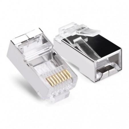 (Venta x pieza) Plug Conector Rj45 Blindado Cable Red Utp Cat 6 Conector Plug Cat6 Blindado Plug Blindado