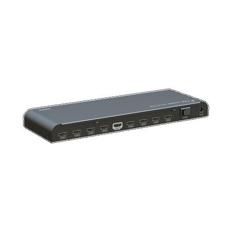 Divisor HDMI de 1 entrada a 8 salidas 4K x 2K @ 30 Hz soporta 3D Splitter HDMI Divisor de HDMI 1 a 8 Salidas