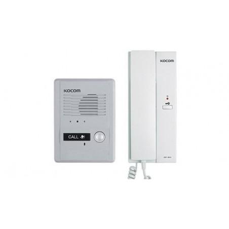 Kit de audio portero con un auricular (expandible hasta 3 auriculares) Kit intercomunicador Interfon Frente + teléfono