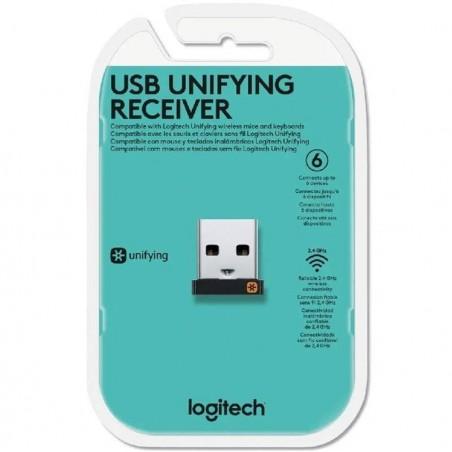Adaptador Receptor Logitech Usb Unifying Para Teclado Mouse Receptor de Multiples Teclados y Mouse Receptor Usb Wireless