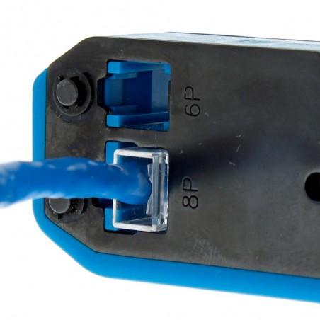 Pinzas para plegar cables UTP5 y UTP6 con Cavidades para RJ11 de 4 y 6 hilos y RJ45 Pinza Ponchadora IDEAL