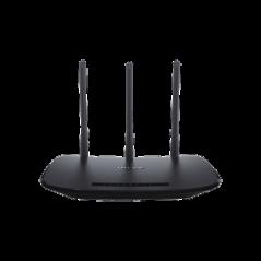 Router Inalámbrico 2.4 GHz, 450 Mbps, 3 antenas externas omnidireccional 5 dBi, 4 Puertos LAN 10/100 1 Puerto WAN