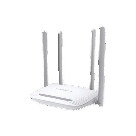Router Inalámbrico N 2.4 GHz de 300 Mbps 1 puerto WAN 10/100 Mbps 4 puertos LAN 10/100 Mbps con 4 antenas de 5 dBi