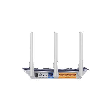 Router Inalámbrico doble banda AC, 2.4 GHz y 5 GHz 733 Mbps 3 antenas 4 Puertos LAN 10/100 Mbps, 1 Puerto WAN