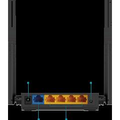 Router Inalámbrico doble banda AC, 2.4 GHz y 5 GHz Hasta 1200 Mbps 4 antenas 4 Puertos LAN 10/100 Mbps, 1 Puerto WAN