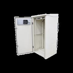 """Gabinete de Exterior con Rack de 19"""" de 24U con Ventiladores y Termostato Gabinete para Exterior Metalico"""