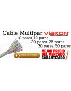 Cable con GEL para telefono, Cable Multipar, Cable multifilar, Cable Viakon, Cable Condumex