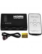Switch HDMI, Conecta 3 dispositivos a 1 salida HDMI