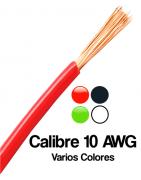 Calibre 10 AWG, Cable electrico calibre 10 Color Verde, Naranja, Negro, Blanco, Etc
